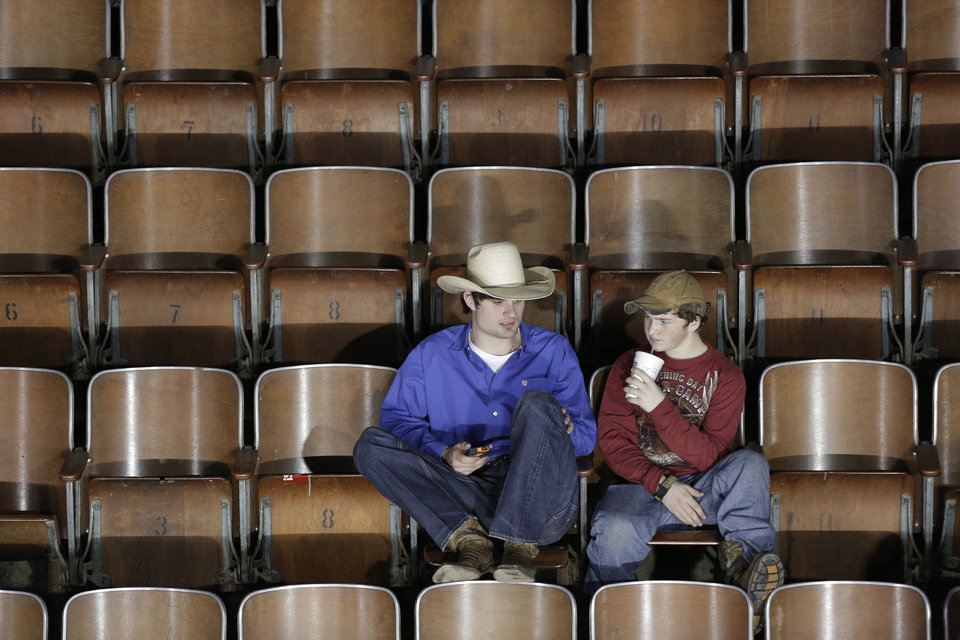 Fans watch during the final performance of International Finals Rodeo at the State Fair Arena in Oklahoma City, Okla., Sunday, Jan. 20, 2013.  Photo by Garett Fisbeck, For The Oklahoman