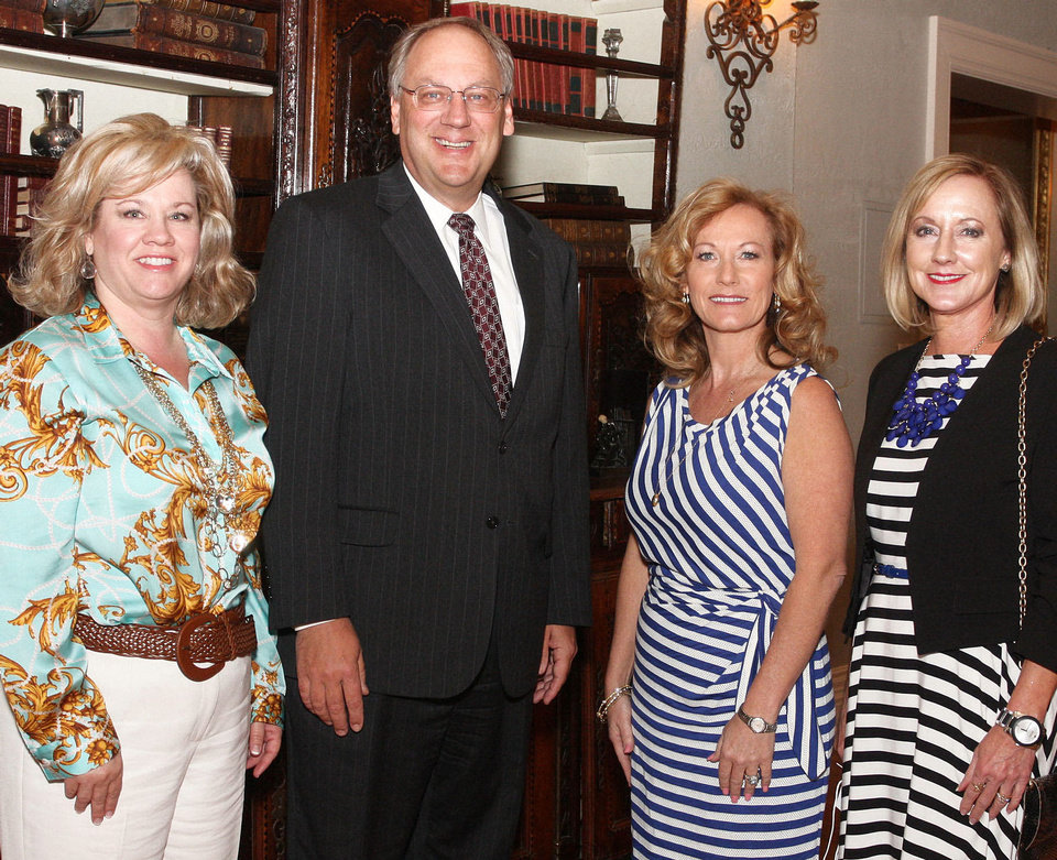 Laura Ingram, Marc Maun, Jackie Davis, Sheryl McLain. Photo by David Faytinger for The Oklahoman____