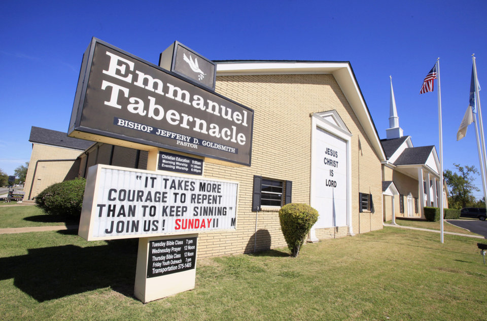 Photo - Oklahoma City police said a fatal shooting occurred Wednesday near the intersection of Western Avenue and NW 96. Emmanuel Tabernacle, 9700 N Western Ave. is at the intersection, but church leaders said their members were not involved in the shooting.