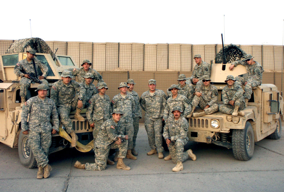 1st Lt. Michael Behenna's platoon in Iraq. Photo provided by the Behenna Family