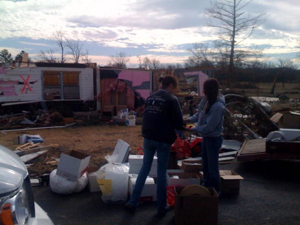 Damage assessment from Tuesday's tornado continues in Long Grove, Oklahoma. Photo by Johnny Johnson.