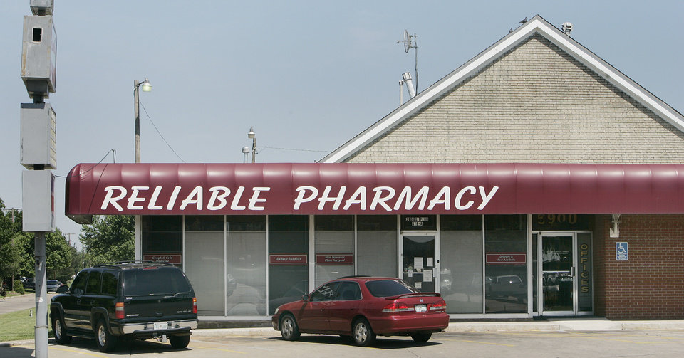 Reliable Pharmacy on 59th and Penn in OKC. Photo by Jaconna Aguirre, The Oklahoman.