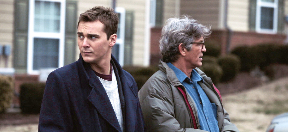 Steve Talley, left, and Academy Award nominee Eric Roberts star as investigative reporters in �Deadline.� PHOTO PROVIDED