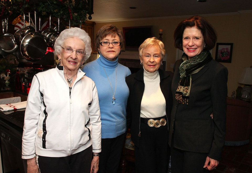 Virgina Brown, Nancy and Ann Flesher, Becky Buchanan.   - Photo By  David Faytinger,  For The Oklahoman