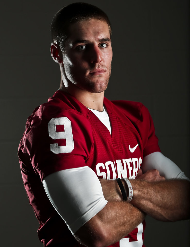Photo - OU COLLEGE FOOTBALL: Quarterback Trevor Knight during the University of Oklahoma media day on Saturday, Aug. 4, 2013 in Norman, Okla.    Photo by Chris Landsberger, The Oklahoman