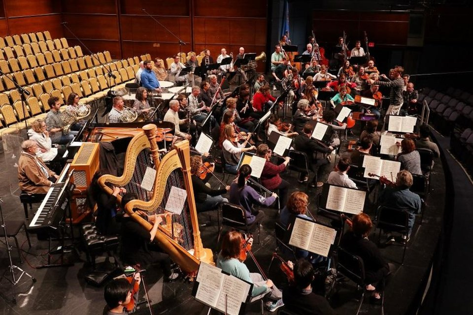 Photo - The Oklahoma City Philharmonic rehearses Tuesday, October 29, 2019. [Doug Hoke/The Oklahoman Archives]