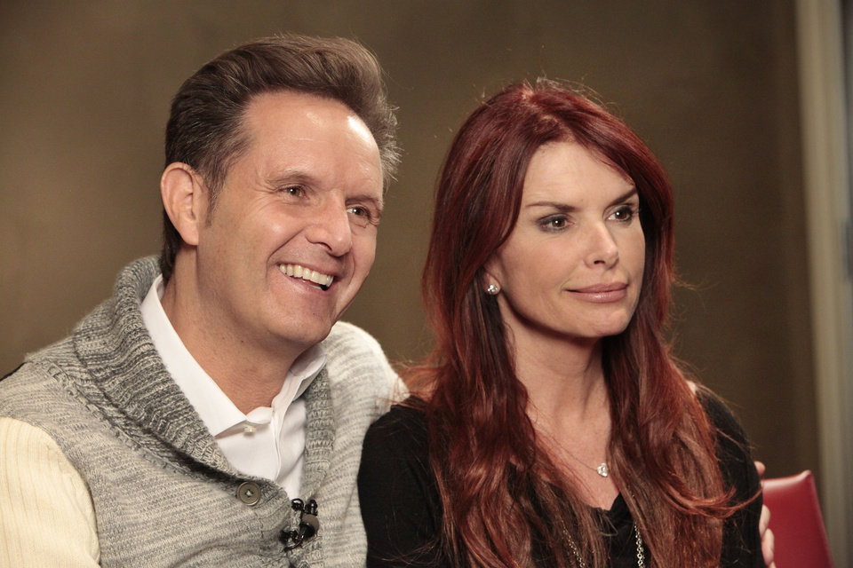 "Mark Burnett and Roma Downey talk about their new TV series on the History Channel called ""The Bible"" during a visit to Edmond-based LIfeChurch.tv. Photo By David McDaniel, The Oklahoman <strong>David McDaniel - The Oklahoman</strong>"