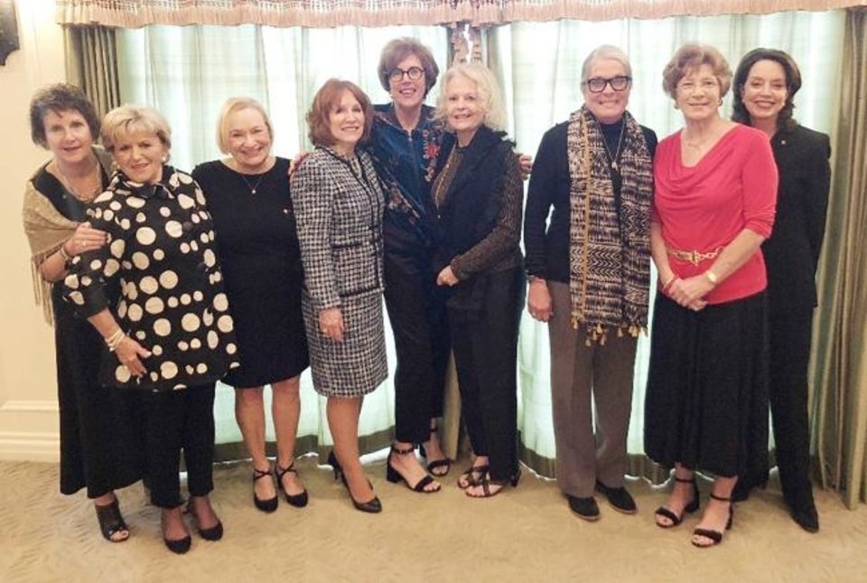 Photo -  Sally Leonard, Patsy Fitzgerald, Christa Chain, Cathy Harned, Julie Richardson, Rosalie Riddle, Linda Barron, Joann Graham and Cathy Keating.