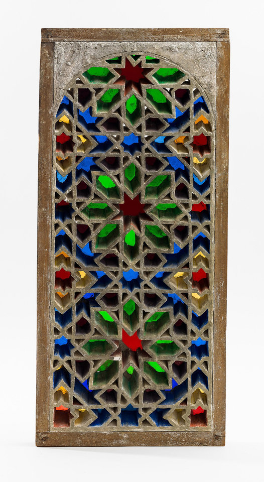 Photo - This image provided by the Dallas Museum of Art shows a 15th Century windows from Egypt made of plaster, glass, and wood. It is among 150 rare Islamic works of art and scientific objects that explore the use and meaning of light on exhibit at the Dallas Museum of Art.