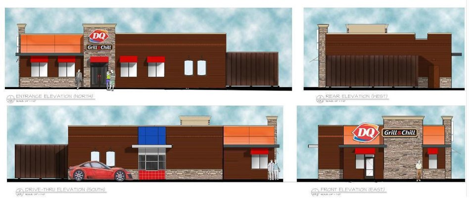 Photo - The future Moore Dairy Queen is shown in these renderings.  Provided