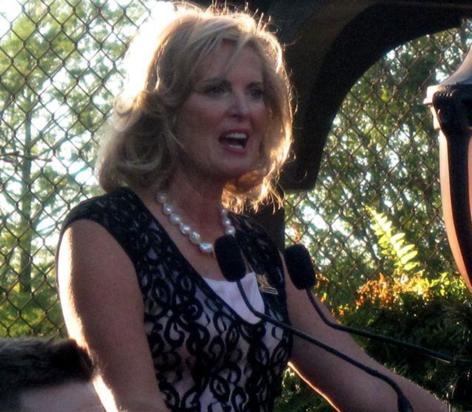 "Ann Romney thanks the donors.  In talking about the nomination of her husband, Ann Romney said, ""It is an honor and a blessing to be involved."" In speaking about the fundraising effort she noted, ""This is for America, so we're very, very grateful to you all."""