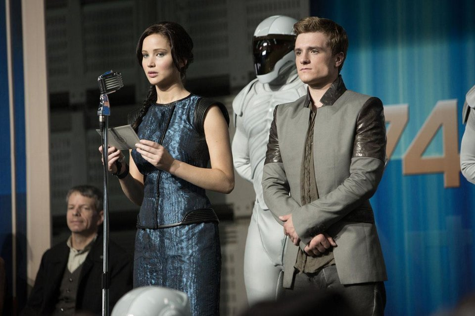 "Jennifer Lawrence plays Katniss Everdeen and Josh Hutcherson plays Peeta Mellark in the sequel ""The Hunger Games: Catching Fire."" Lionsgate photo <strong></strong>"