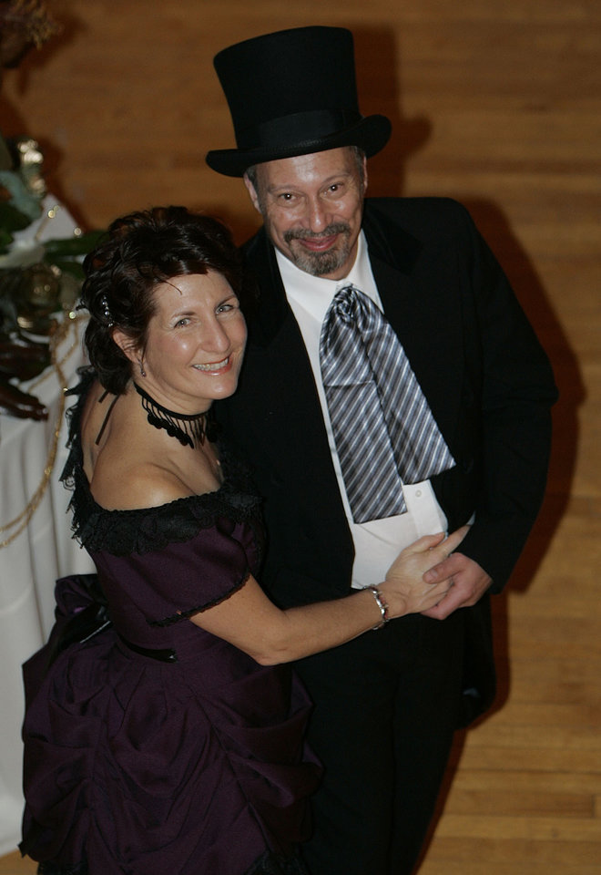 Photo - Bette and Steve Haskell of Harwinton, Conn., dance at the Oklahoma Centennial Statehood Inaugural Ball, Saturday, Nov. 17, 2007, at the Guthrie Scottish Rite Masonic Center, in Guthrie, Okla. Steve is a relative of Oklahoma's first governor in 1907, Gov. Charles Haskell. By Bill Waugh, The Oklahoman