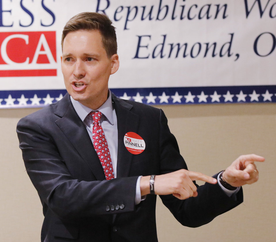 Photo -  Republican Lt. Governor candidate Matt Pinnell