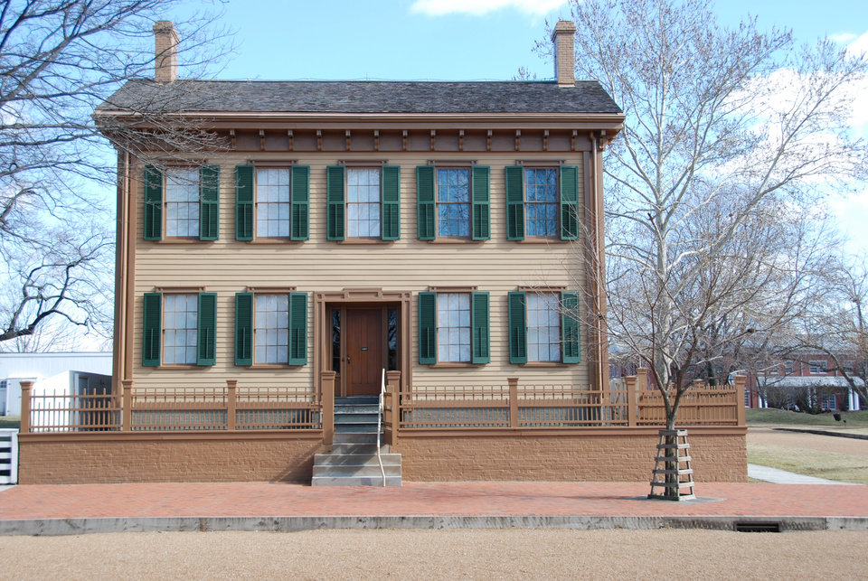 Photo -  Lincoln's home for 17 years is located in a historic neighborhood close to downtown Springfield. PHOTO PROVIDED BY NANCY LEONARD