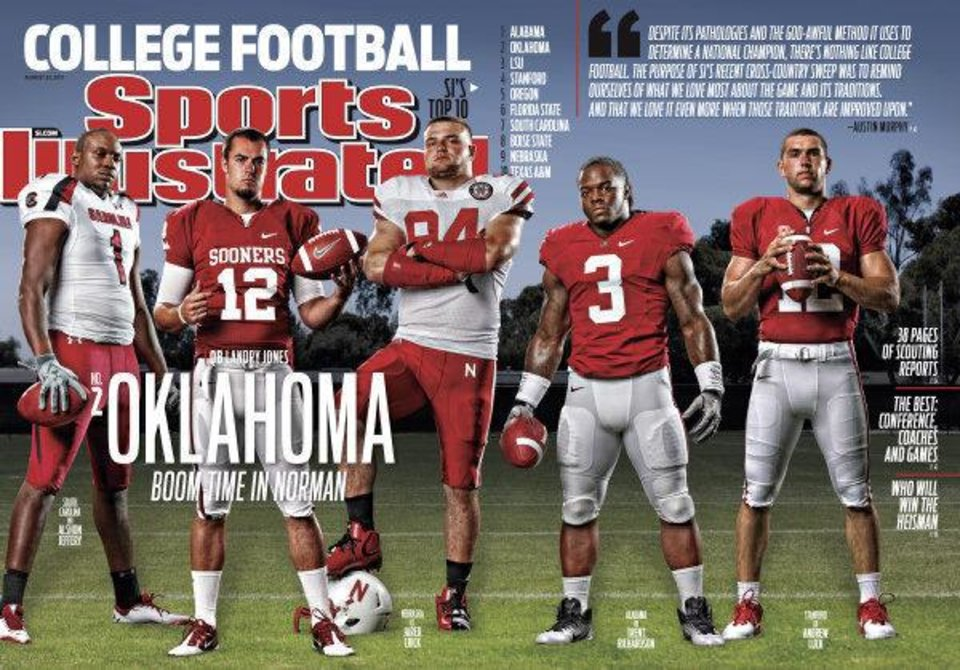 Photo - Oklahoma quarterback Landry Jones will be featured on one of Sports Illustrated's five regional covers. PHOTO PROVIDED