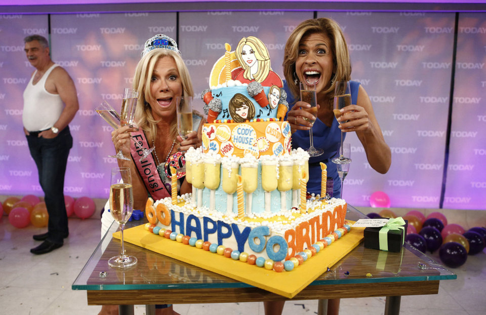 Photo - Kathie Lee Gifford and Hoda Kotb celebrate Gifford's 60th birthday on Friday's episode of