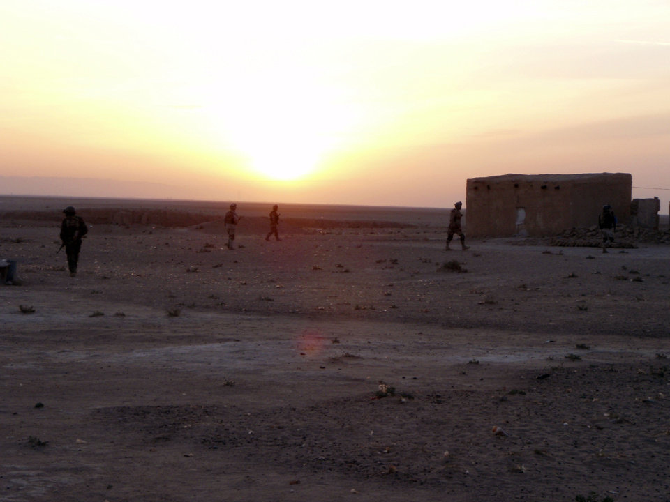 A patrol scene in Iraq. Photo provided by the Behenna Family