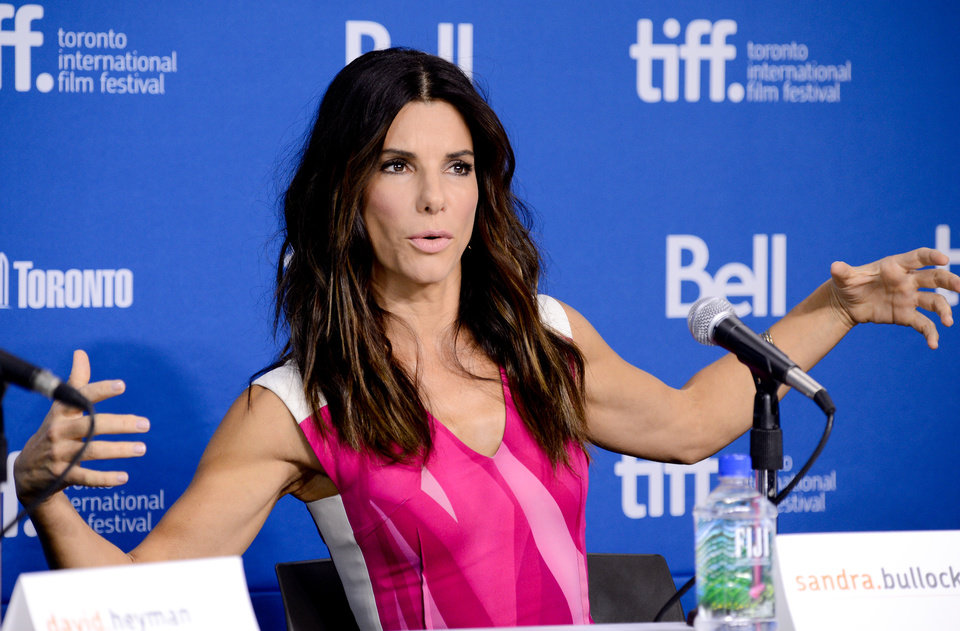 "Photo - Actress Sandra Bullock attends the press conference for ""Gravity"" on day 5 of the 2013 Toronto International Film Festival at the TIFF Bell Lightbox on Monday, Sept. 9, 2013 in Toronto. (Photo by Evan Agostini/Invision/AP) ORG XMIT: TOEA111"