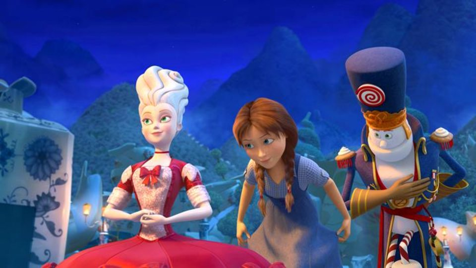 Photo -       China Princess (voice of Megan Hilty), Dorothy (voice of Lea Michele) and Marshal Mallow (voice of Hugh Dancy) in Legends of Oz: Dorothy's Return.