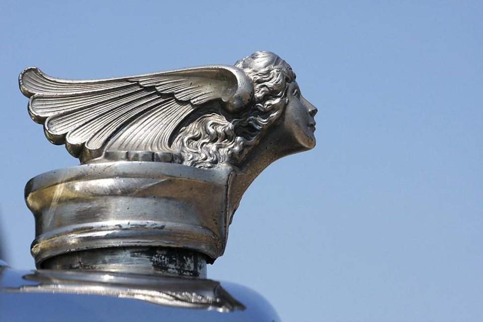 Photo -  What detail! Radiator cap on a 1927 Buick belonging to Randy Dekker at the LibertyFest Car Show on the campus of UCO Saturday, June 27, 2009. Photo by Doug Hoke, The Oklahoman.