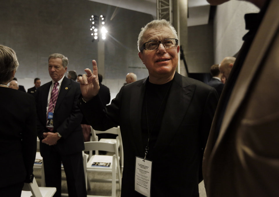 Photo - Architect Daniel Libeskind attends the dedication ceremony in Foundation Hall, of the National September 11 Memorial Museum, in New York, Thursday, May 15, 2014.  President Barack Obama and Sept. 11 survivors, rescuers and victims' relatives are expected to mark the opening of the 9/11 museum, where the story of the terrorist attacks is told on a scale as big as the twin towers' columns and as intimate as victims' last voicemails. (AP Photo/Richard Drew, Pool)