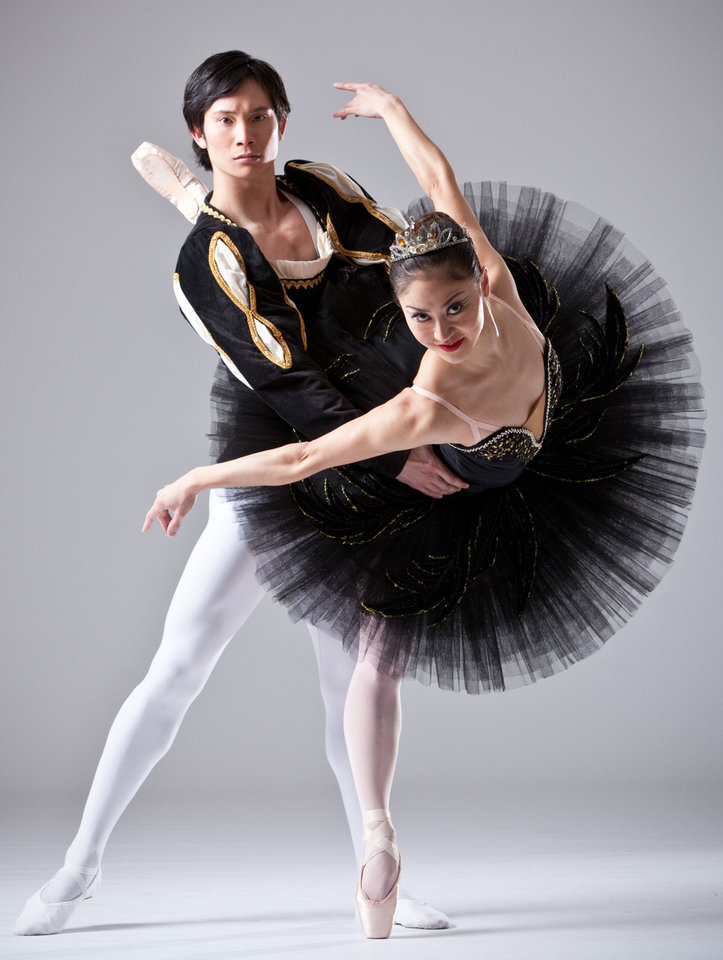 "Yui Sato and Miki Kawamura head the cast of the Oklahoma City Ballet production of ""Swan Lake."" Photo by Simon Hurst Photography <strong></strong>"