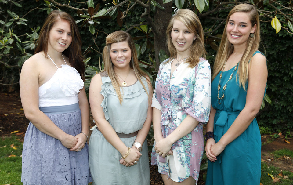 Left to Right, Taylor Helms, Emily Hood, Bonnie Tibbs and Rosie Atkinson in Nichols Hills, Oklahoma , Wednesday, May 25, 2011. Photo by Steve Gooch