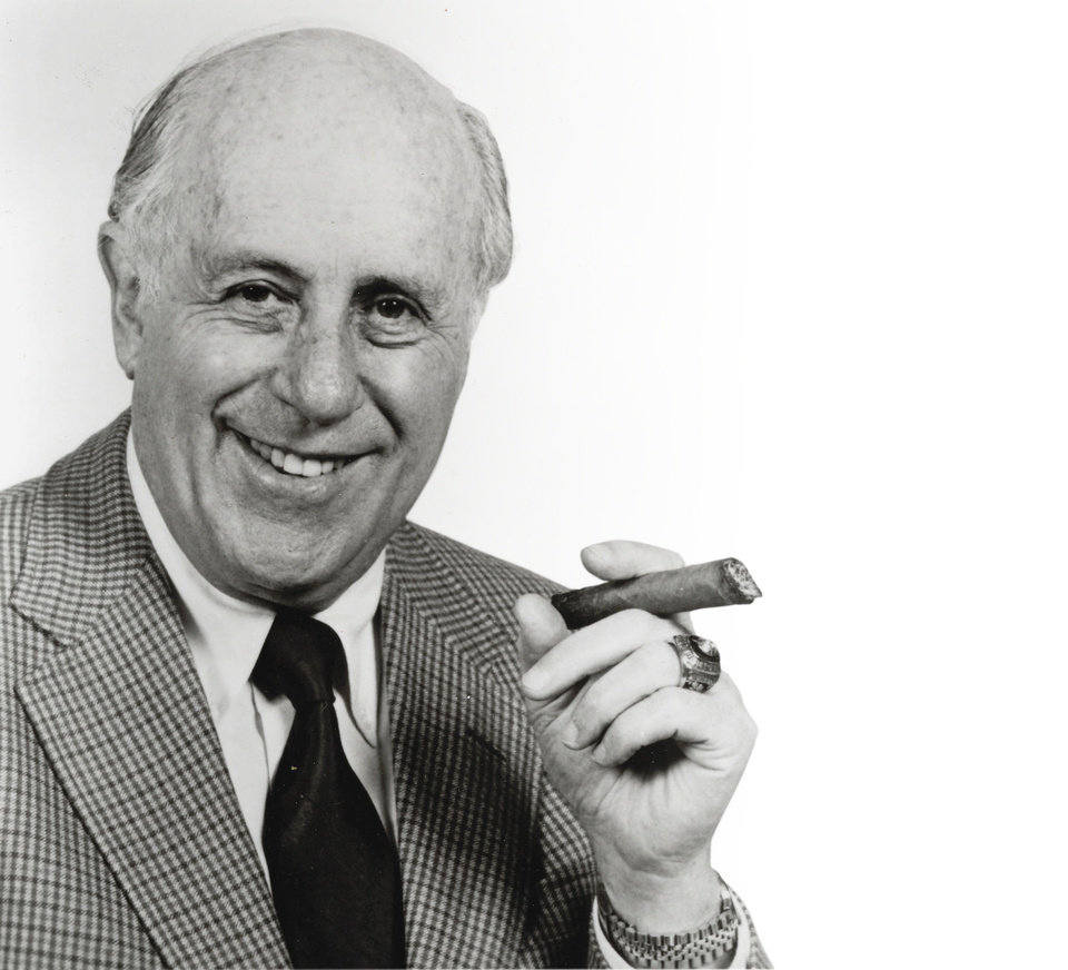 Photo - ** FILE **     DEATH: This 1987 handout photo shows Red Auerbach in March 1987. Auerbach, who coached the Boston Celtics to nine championships in the 1950s and 1960s, died Saturday, Oct. 28, 2006. He was 89.   (AP Photo/HO,file) ORG XMIT: NY167 ORG XMIT: OKC0610282039182365