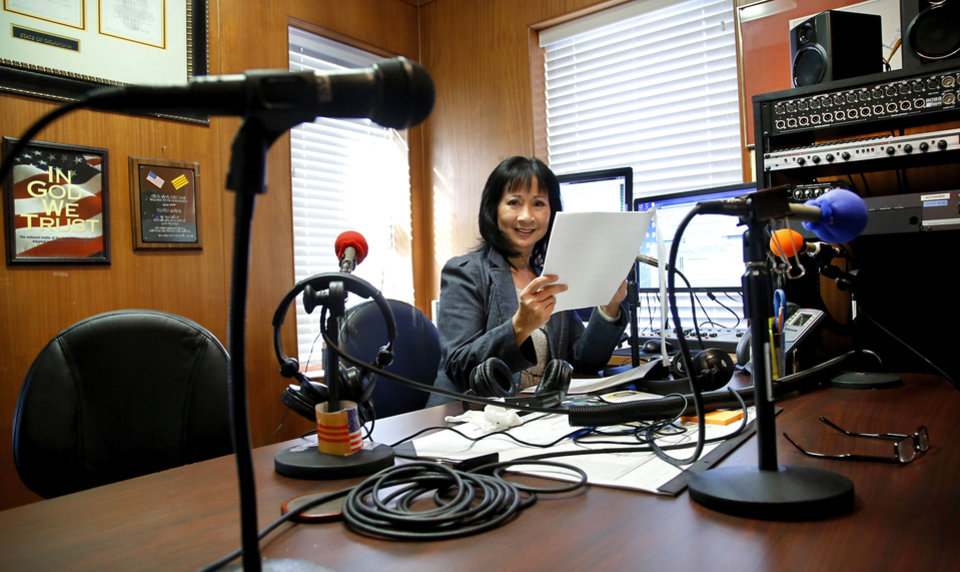 Photo -  Mai Ly Do (she also goes by Marlene) has operated a Vietnamese radio station for 12 years. Mai helps keep the Vietnamese community connected, using their native language. During the May 20 storms, Mai stayed at her radio studio and kept broadcasting to ensure that Vietnamese Oklahomans knew when to take shelter. She provides an important service for a dedicated group of listeners.    Jim Beckel -  THE OKLAHOMAN
