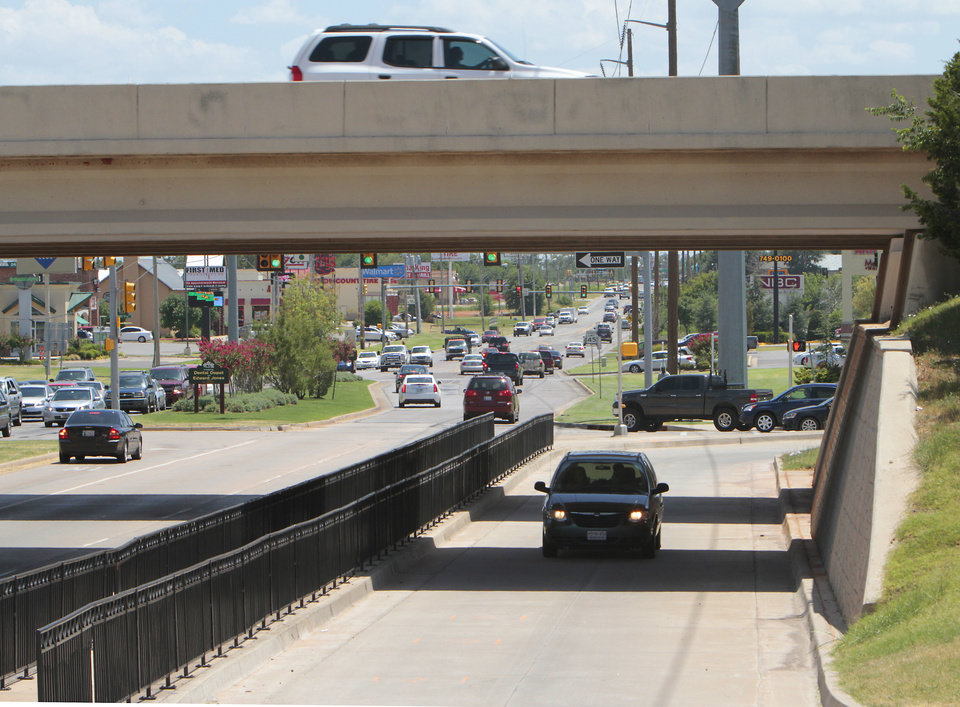 Pedestrian walkway that adjoins the Texas turnaround under the Kilpatrick Turnpike adjoining Pennsylvania Avenue, Wednesday, July 18 , 2012. Photo By David McDaniel/The Oklahoman