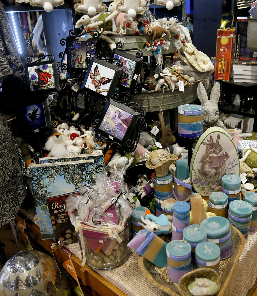 Photo -  Easter items for sale inside Craig's Curious Emporium in Oklahoma City, Wednesday, March 20, 2019. Photo by Bryan Terry, The Oklahoman