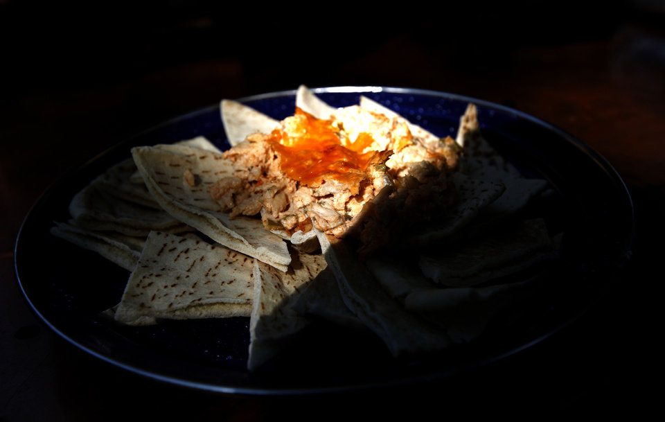 Photo - Buffalo Chicken Dip is pictured at the National Cowboy & Western Heritage Museum in Oklahoma City.  SARAH PHIPPS - THE OKLAHOMAN