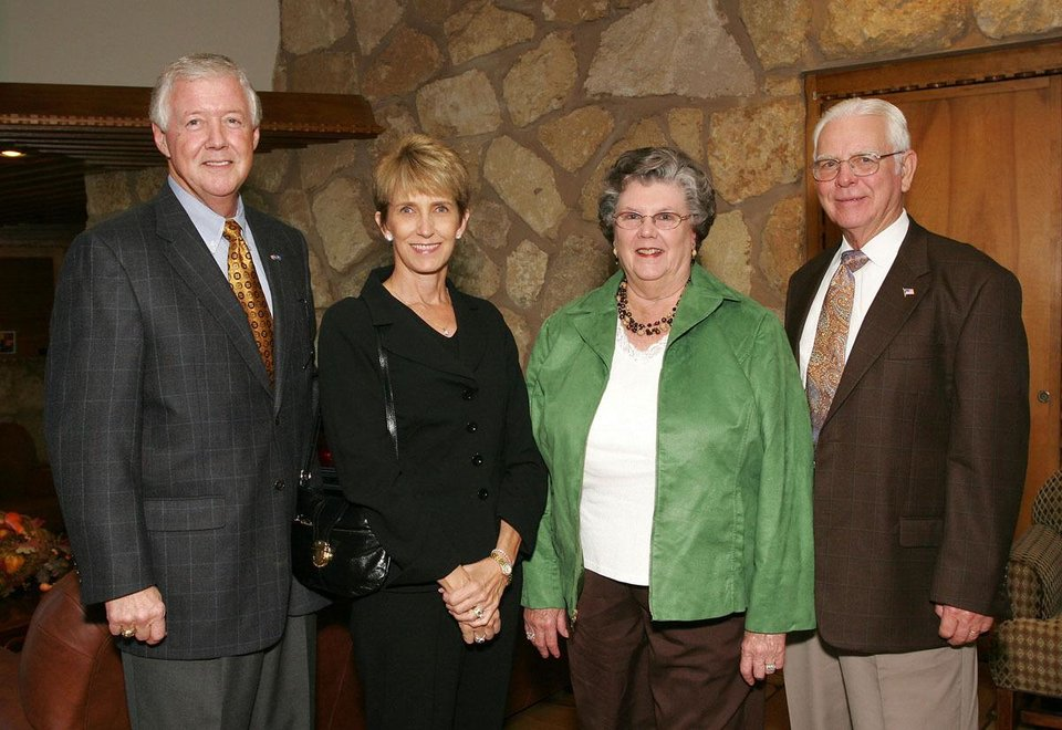 Luke and Becky Corbett, Rita and Jim Litton.  - Photo by David Faytinger, For The Oklahoman