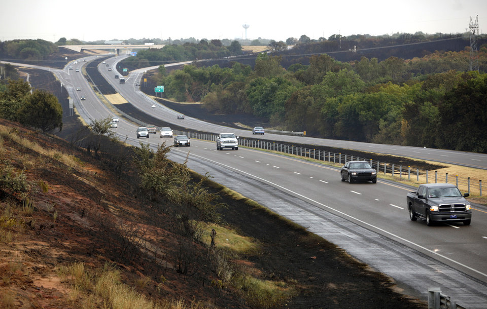 Cars travel on Interstate 35 in Edmond, Okla.,  Sunday, Aug. 7, 2011. Photo by Sarah Phipps, The Oklahoman