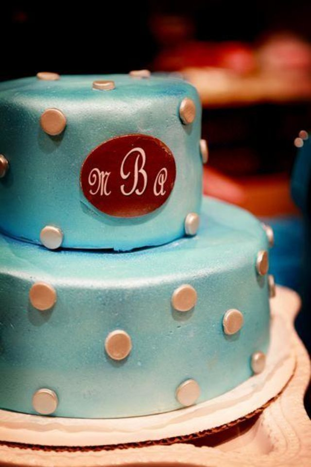 ENGAGING....Monogrammed cake that was at the recent engagement party for Amanda Coy and Michael Bower. (Photo provided).