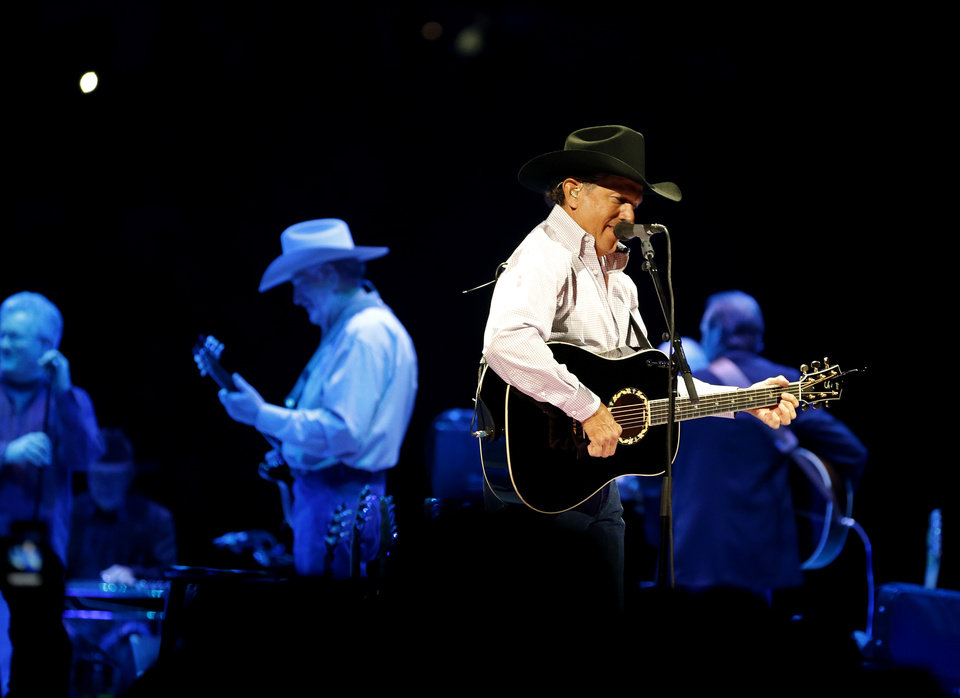 "George Strait performs during ""The Cowboy Rides Away Tour"" at Chesapeake Energy Arena on Saturday, Jan. 19, 2013. Photo by Bryan Terry, The Oklahoman"