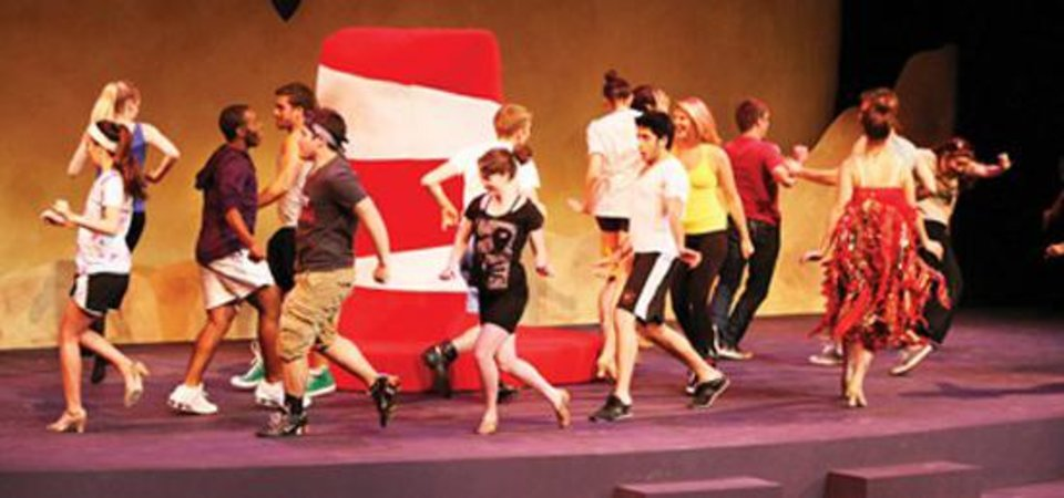 "A  little like a visit to the circus, a wacky adventure and a fantasy story with cosmic overtones, the University of Oklahoma's ""Seussical the Musical"" will be performed Friday, Saturday and Sunday in the Rupel J. Jones Theatre, 563 Elm Ave. Photo courtesy of The Oklahoma Daily, Ty Johnson"