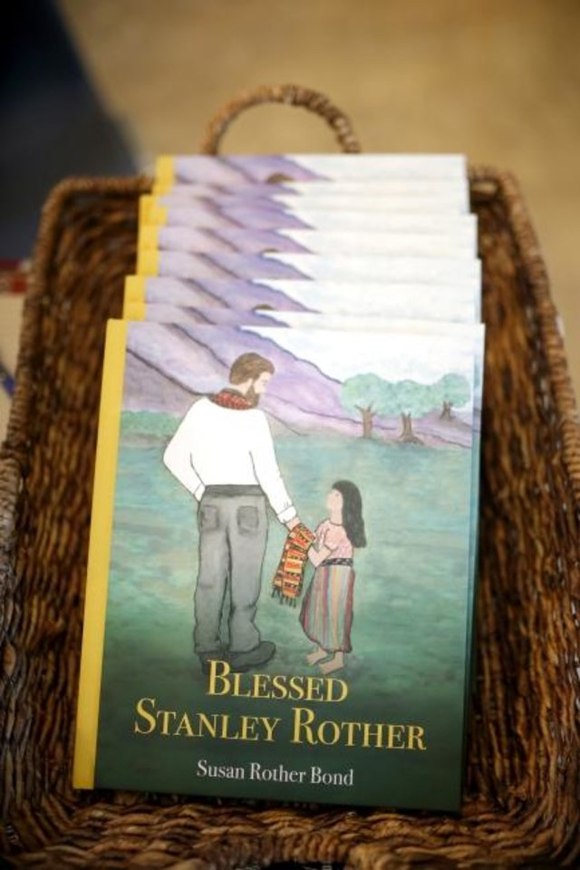 Photo -  Copies of Norman author Susan Rother Bond's children's book