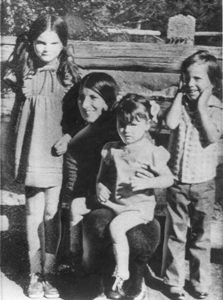 Karen Silkwood with her children, from left, Beverly, Dawn and Michael. Karen Silkwood was a  Kerr McGee employee that worked at the plutonium plant near Cresent and the Cimmaron River.