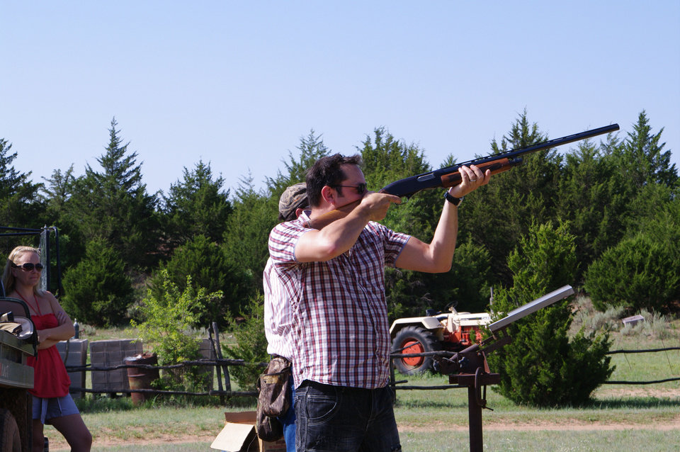 A visitor at Island Guest Ranch shoots skeet, one of many activities offered to guests. Photo provided <strong></strong>