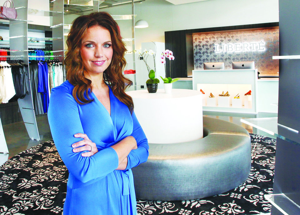 Photo - Danielle Keogh is CEO of Liberte, a  high-end women's fashion store that opened recently in the Classen Curve shopping center in Oklahoma City.  Photo by Jim Beckel, The Oklahoman  Jim Beckel - THE OKLAHOMAN