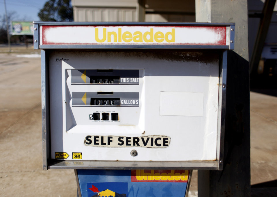An old gas station near 50th Street and Martin Luther King Avenue  is pictured in Oklahoma City, Okla., Monday, Jan. 11, 2010. Photo by Sarah Phipps, The Oklahoman