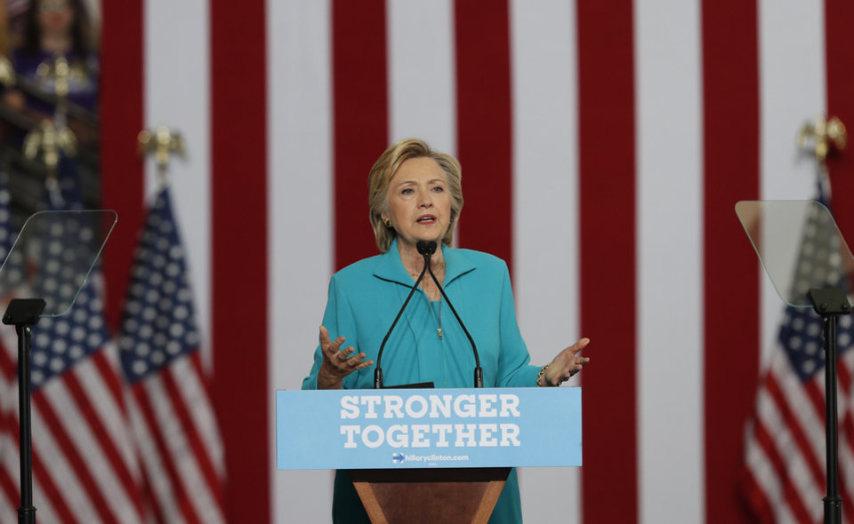 Photo - Democratic presidential candidate Hillary Clinton speaks at a campaign event on Aug. 25 at Truckee Meadows Community College in Reno, Nev. (AP Photo/Carolyn Kaster)