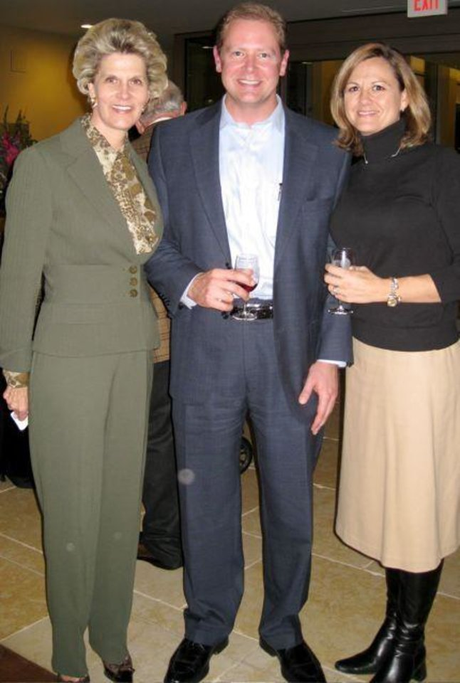 CELEBRATING 65....Cindy McCharen, Chad and Susie Vesper. (Photo by  Helen Ford Wallace).