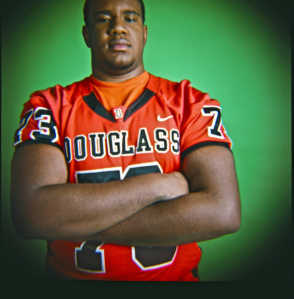 Nic Nealy of Douglass High School on Monday, Dec. 14, 2009, in Oklahoma City, Okla.   Photo by Chris Landsberger, The Oklahoman
