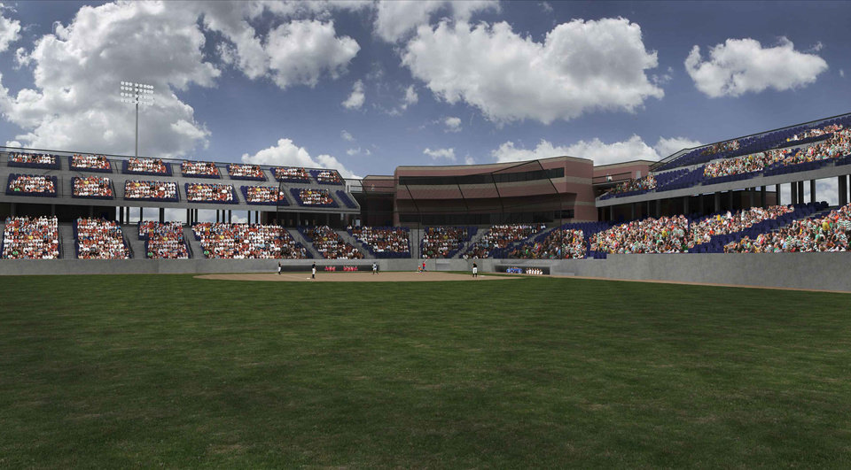 A rendering of what ASA Hall of Fame Stadium will look like after improvements. PHOTO PROVIDED  <strong></strong>