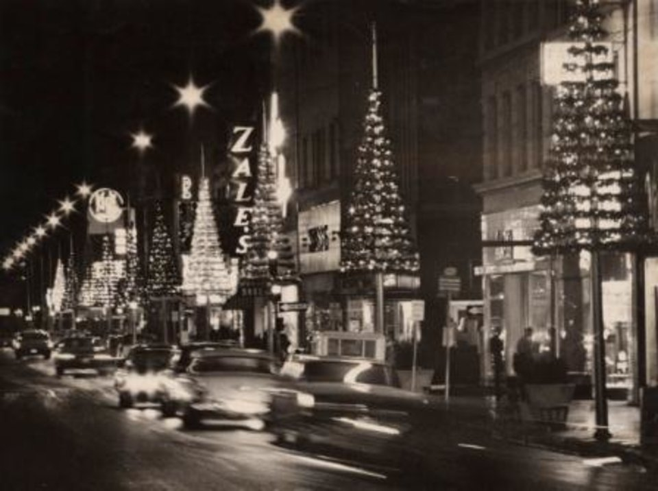 Photo -  Downtown Oklahoma City, Christmas 1968.