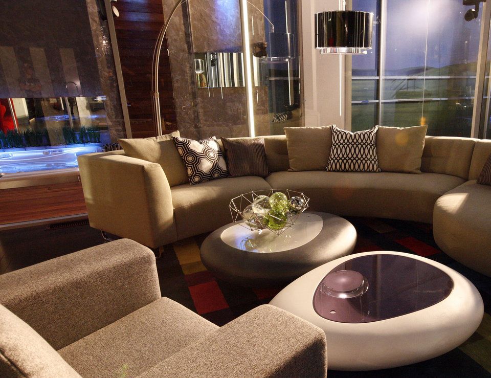 Photo -   This June 2012 photo released by ABC shows a sitting area for