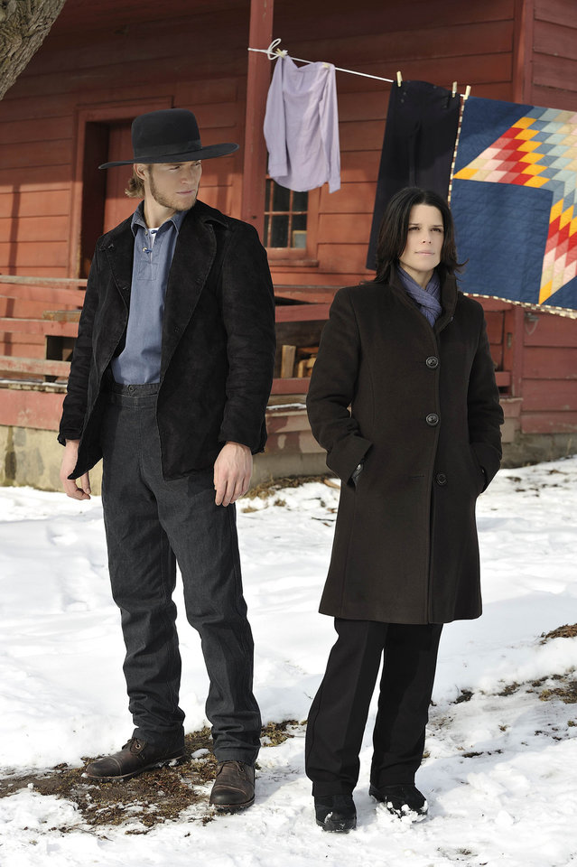"Jilon VanOver and Neve Campbell star in the Lifetime Original Movie ""An Amish Murder."" - Credit: Ben Mark Holzberg/Copyright 2011"